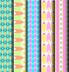 set geometric pastel pattern vector image