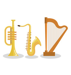 Set of musical instruments event symbols vector