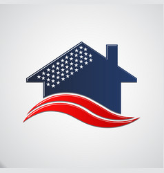 american house 50 stars vector image vector image