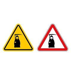 grim reaper warning sign of attention Death Danger vector image vector image