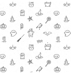 Halloween flat pattern soft vector image vector image
