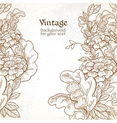 Vintage background with wild meadow flowers vector image