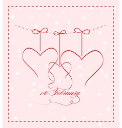 14 feb greating card vector