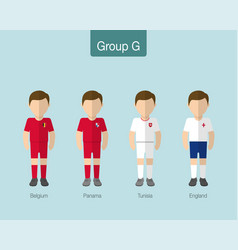 2018 soccer or football team uniform group g vector image