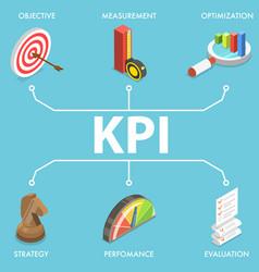 3d conceptual kpi - key vector image