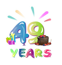 49th years anniversary celebration design vector image