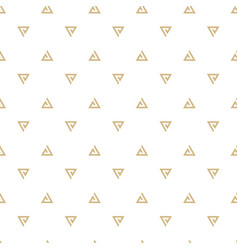 abstract gold triangle white pattern image vector image