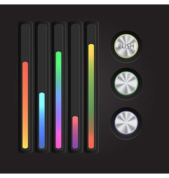 Abstract music equalizer Eps 10 vector image