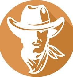 American Cowboy Icon vector