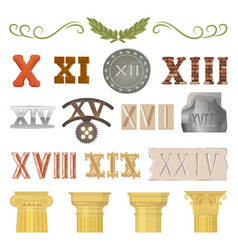 ancient historical antique architecture of vector image