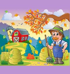 Autumn farm theme 9 vector