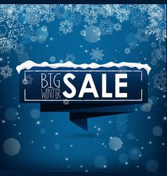 Big winter sale banner over blue background vector