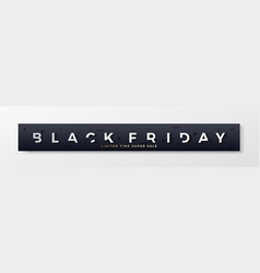 black friday stylish premium banner or header vector image