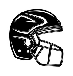 black helmet for american football vector image