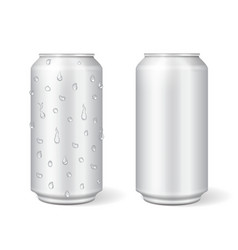 Blank aluminium can for lemonade or beer vector