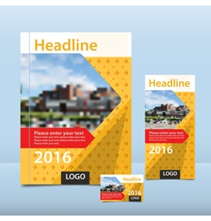 Book flyer and card vector