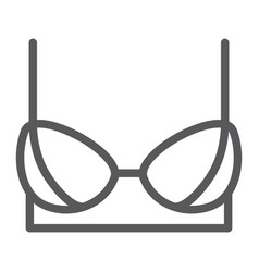 bra line icon female and underwear lingerie sign vector image