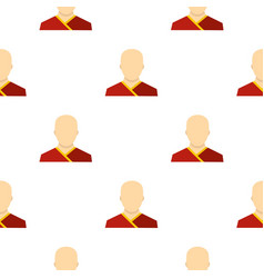 buddhist monk pattern flat vector image