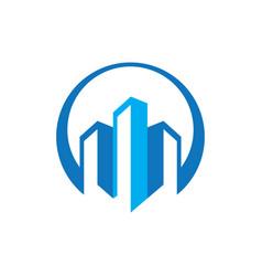 buildings real estate logo image vector image