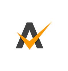 Check letter a logo icon design vector