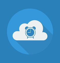 Cloud Computing Flat Icon Clock vector image