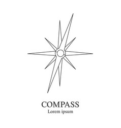 compass icon travel company logo template vector image