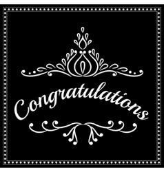 Congratulations background vector