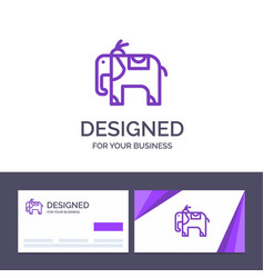 creative business card and logo template elephant vector image