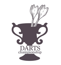 darts championship tournament of players and vector image