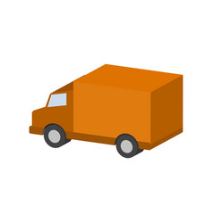 delivery van commercial vehicle symbol flat vector image