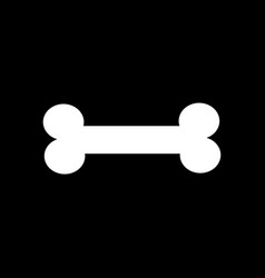 dog bone sign icon design vector image