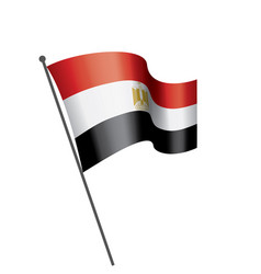 egypt flag on a white vector image