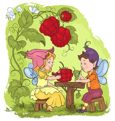 Elves cartoon fairytale vector
