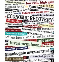 Financial recovery headlines vector