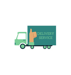 flat delivery vehicle truck icon vector image