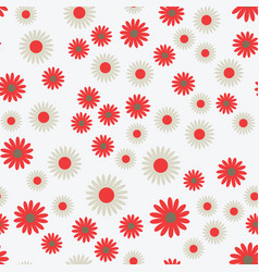flat flowers seamless pattern vector image