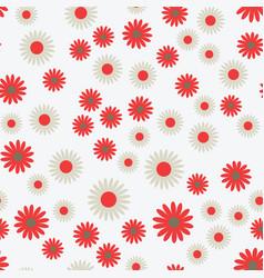 flat flowers seamless pattern vector image