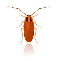 Flat geometric cockroach vector