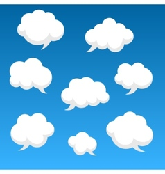 Flat speech clouds for you design vector image