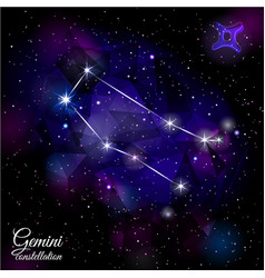 gemini constellation with triangular background vector image