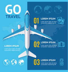 go travel concept vector image