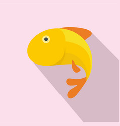 gold fish icon flat style vector image