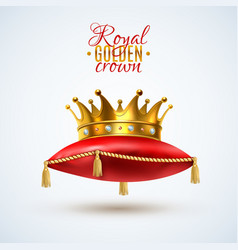 Goyal crown on red pillow vector