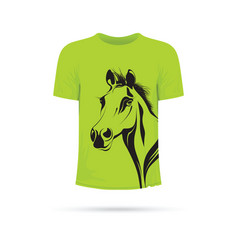 Green horse t-shirt vector