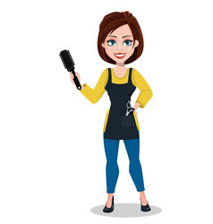 hairdresser woman in professional uniform vector image