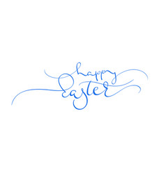 happy easter blue text on white background vector image