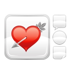 Happy Valentines day romance love Cupid arrow vector image
