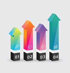 infographic template Modern arrow box Design vector image