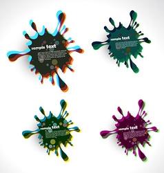 ink splash vector image