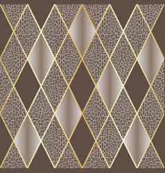 Leopard beige luxury and geometric seamless vector